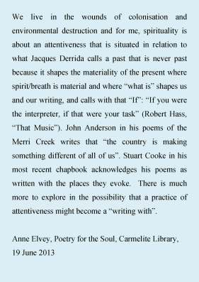 Elvey Poetry and the Soul