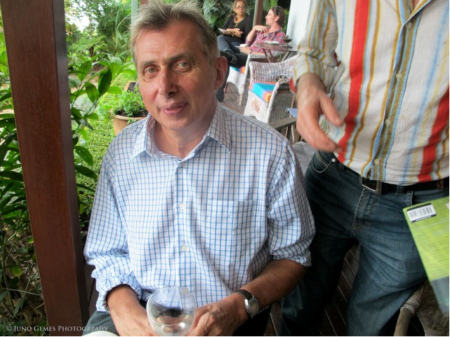 Martin Harrison at Wallangara Artists Lunch, at our home on the Hawkesbury River, January 2007
